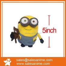 "Cartoon Minion Plush Doll Plush Doll Pendant 5"" Animal Keychain,Stuffed Animal Keychain,Small Stuffed Animal Keychains"