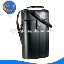 Hot Fashion Gift Wholesale Custom Handmade Leather Wine Holder Portable Wine Case Leather Wine Bag Carrier