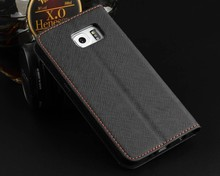 Leather Flip Case Book Cover Wallet for Samsung Galaxy S6