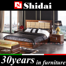 Wooden hotel bedroom furniture / wooden hotel bed for bedroom / chinese bedroom furniture B97