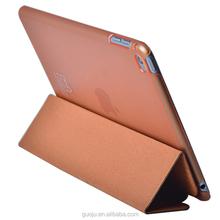 wood texture leather folding case for ipad mini 4