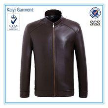 a prueba de agua de color marrón de cuero ecuestres jackt fabricantes de ropa