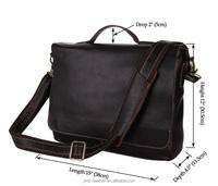 7108Q JMD Genuine Leather Vintage Men's Briefcases Handbag Messenger