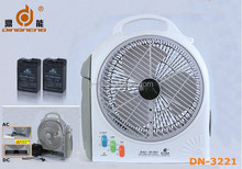 DINGNENG wholesales emergency 3v 6V 9v 12v rechargable dc table fan with 66 leds