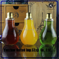 High quality 250ml bulb shaped glass bottle with screw cap for liquor wholesale