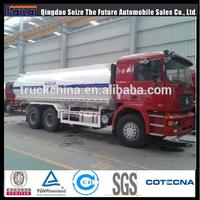 Shacman China tank truck F2000 340hp stainless steel truck milk tank