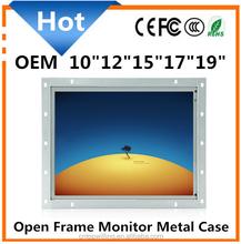 VGA/AV/TV/HD/BNC input Open Frame 12 inch TFT LCD Touch Screen Open Frame Monitor