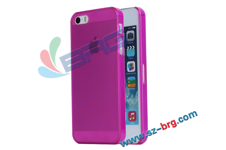 BRG Free shipping!!! 0.5mm ultra-thin transparent pc case for iphone 5S, for iPhone 5s case