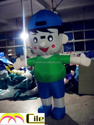 CILE 2015 hot selling custom inflatable young boy model (advertising, sales promotion, simulator, events)