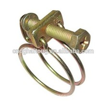 personalizados de metal condutor de combustível mangueira clipes grampos de casal