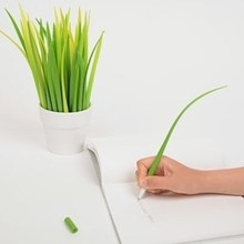 Grass design silicone pen / promotional ballpoint pen / cute pen