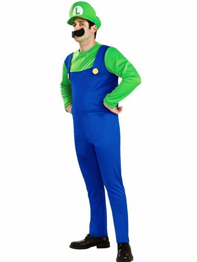 (Mix order 10% off) new arrival Halloween Super Mario cosplay men costumes, Halloween men workers stage show party costumes