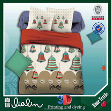 china supplier bell 3d bed cover set