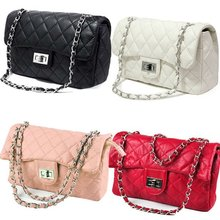 Ladies Clutch Classic Chain Shoulder Bag With Quilting Chain Cross