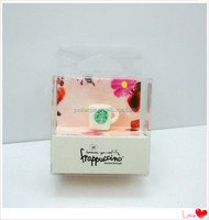 Unique soft crease clear plastic gift containers