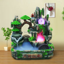 fountain128-1Table Top Indoor Buddha Water Feature with Spinning Ball Pump Coloured LED Light