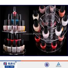 Rotating Clear Acrylic 2 Tier Nail Polish Rack / Cosmetics Organizer / Jewelry Display Stand