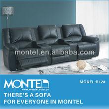 2015 modern home cinema leather sofa