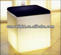 2013 new products on market! flower show case/ illuminated led cube chair and table