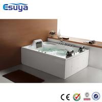 Inflatable jet whirlpool bathtub with tv