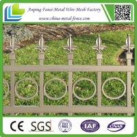 2015 hot sale cheap residential crimped steel fence