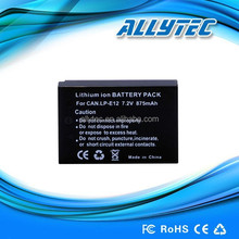 Digital camera lithium battery pack for CANON LP-E12 battery charger