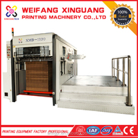XMB-1100mm semi-auto flat-bed paper sheet metal hole punch machine creasing die cutting machine