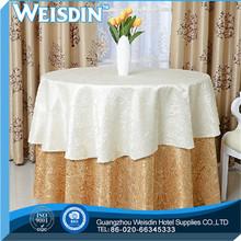 polycotton do casamento de fita de cetim de poliéster hotel toalha de mesa