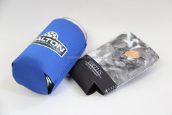 Promotional 3/5mm neoprene can cooler/stubby holder with bottom