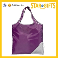 China Latest Products Fashion Cheap Polyester Folding Shopping Tote Bag