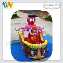 Hongwan new product octopus pirate inflatable character pirate ship inflatable slide