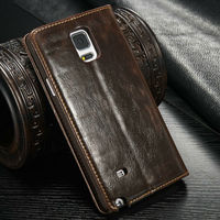"5"" inch leather case for samsung galaxy note 4"