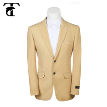 2015 New style 2 button yellow man leisure clothing men's jacket suite factory direct sale