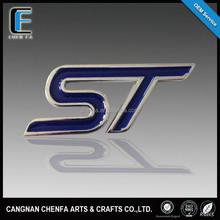 custom made good quality zinc alloy 3D metal chrome logo badge car emblem for ford