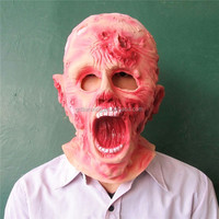 Alibaba Express realistic Awesome Mask Full Head Rubber latex Horror Mask for halloween day