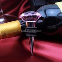 Personalized Diamond Pink Crystal Bottle Wine Stopper ,wine stopper SJ-JPS079