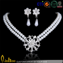 New Design Wedding Jewelry Set Fashion Delicate Pearl Jewelry, Wholesale Bridal Jewelry Set