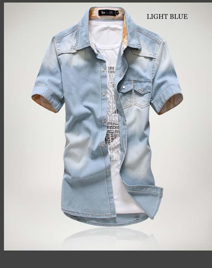 men short sleeve shirt big size 1