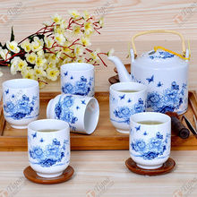 TG-405W231-W-10 pottery tea set made in China japanese gift