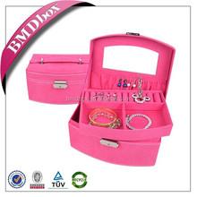 Custom made your logo velvet jewellery box fashion handbags 2015