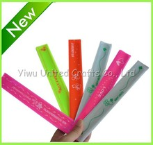 PVC and plush material reflective snap band for wholesale or promotion