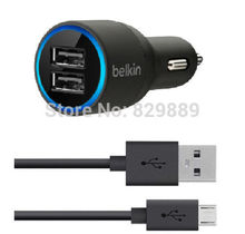 Belkin 2.1A Dual Car Charger With Micro USB Cable For Samsung HTC Huawei Lenovo