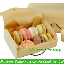 Natural wooden Cake box / Customized Wooden gift box / Hand made wooden packaging box