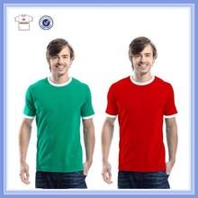 2015 Summer bulk cheap price overseas double neck men blank t-shirt