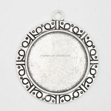 RS-1076Y Factory outlet Exclusive style jewelry finding, 25mm round jewelry findings silver bezels jewelry making