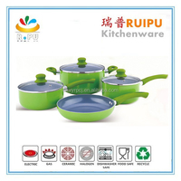 wholesale german chefline aluminium induction stewing pot set stone chef cookware / marble coating cookware