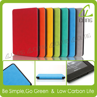 PU Ultra Slim E Reader Leather Smart Cover for Amazon Kindle Paperwhite Case