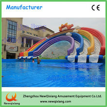 Customized inflatable water slide/attractive hippo inflatable water slide