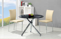 Dining room furniture 2015 chromed glass dining table