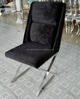 Hot Sale Heated Fabric Cushion Modern Stainless Steel Dining Chair